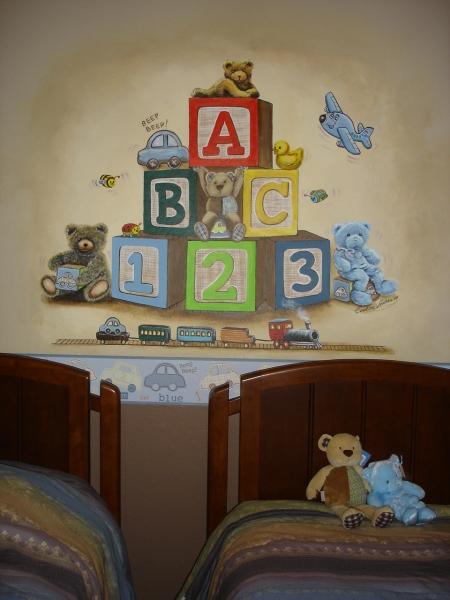 Baby Block Mural