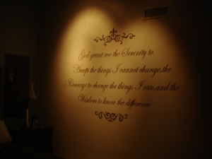 Serenity Prayer Mural Hand Painted