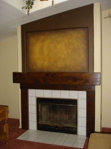 Faux Finishes Fireplace Wall
