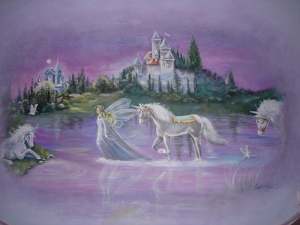 Baby-Room-Mural-Fairy-Enchanted-Castle-Unicorn