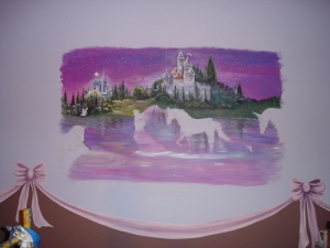 Nursery Mural Enchanted Castles